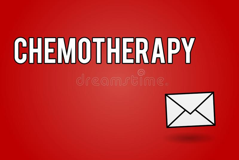 Химиотерапия текста почерка Эффективный путь смысла концепции обрабатывать раковидные ткани в теле бесплатная иллюстрация