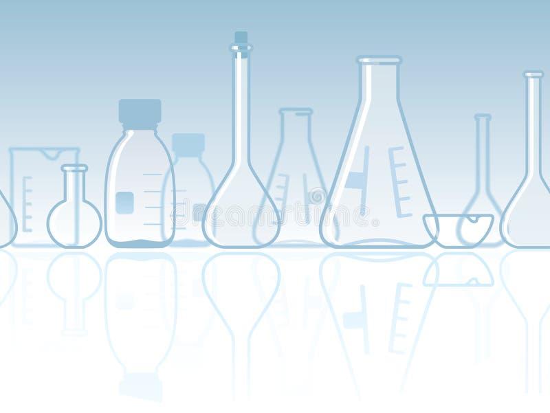 химическая лаборатория знамени безшовная иллюстрация вектора