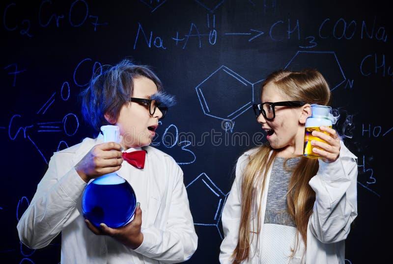 химическая наука стоковое изображение