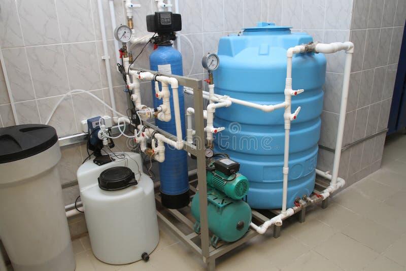 Химическая обработка воды стоковые изображения