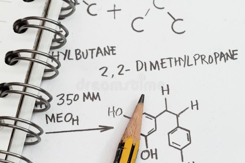 химическая формула стоковая фотография rf