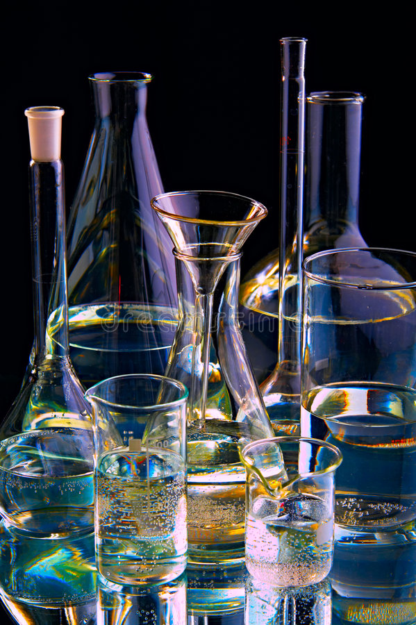 химические флаконы стоковые изображения