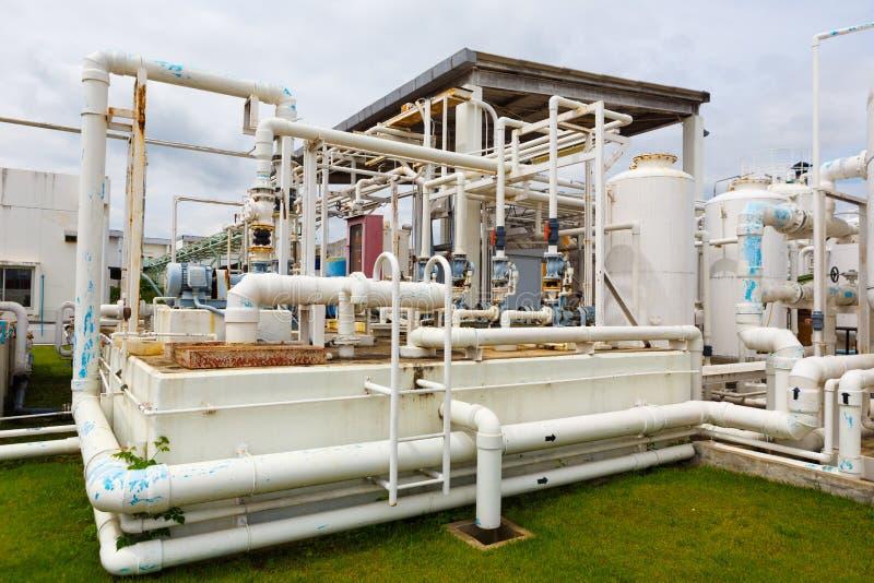 Химический завод азота стоковая фотография