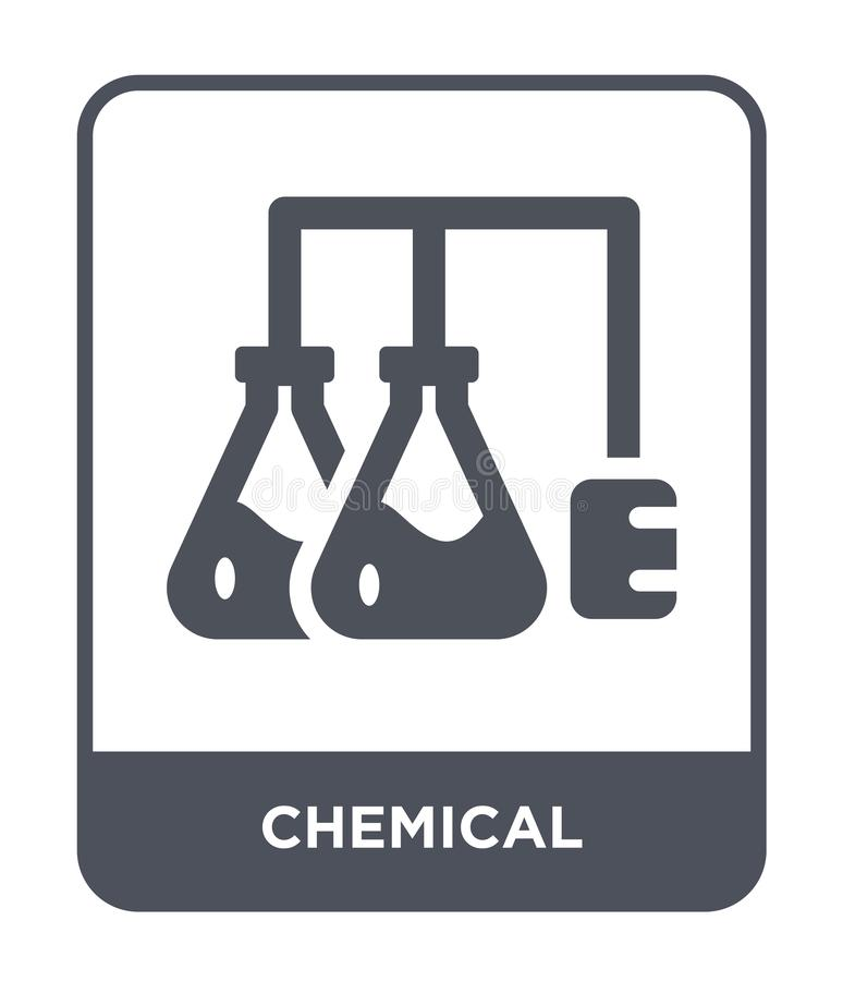 химический значок в ультрамодном стиле дизайна E квартира химического значка вектора простая и современная иллюстрация вектора