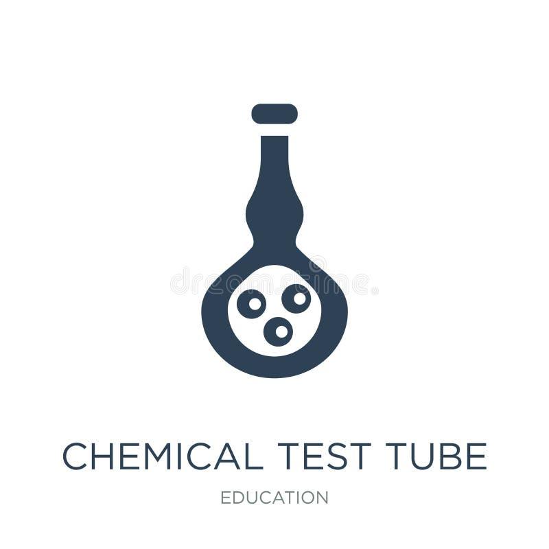 химический значок пробирки в ультрамодном стиле дизайна химический значок пробирки изолированный на белой предпосылке химический  иллюстрация вектора