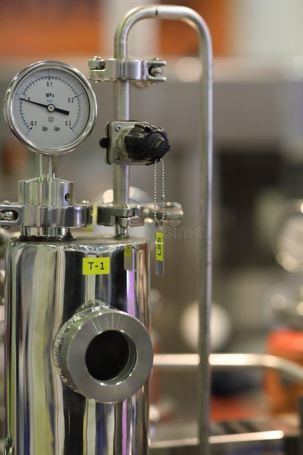 Химическое оборудование нержавеющей стали стоковое фото rf
