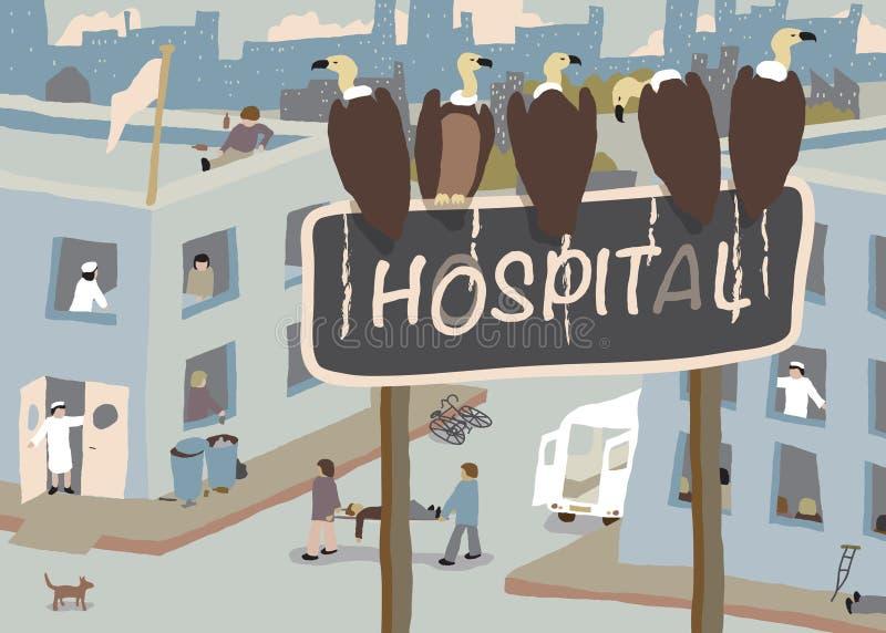 Хищники больницы иллюстрация вектора