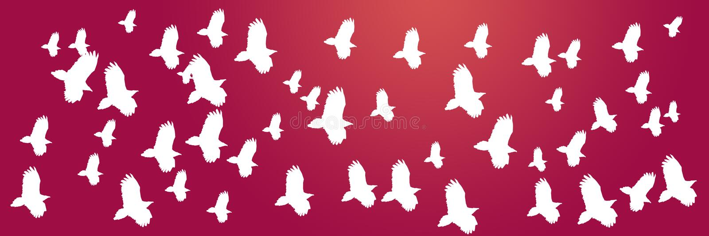 Хищники летящих птиц предпосылки заголовка бесплатная иллюстрация