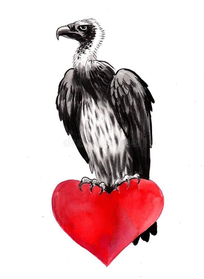 Хищник и сердце бесплатная иллюстрация