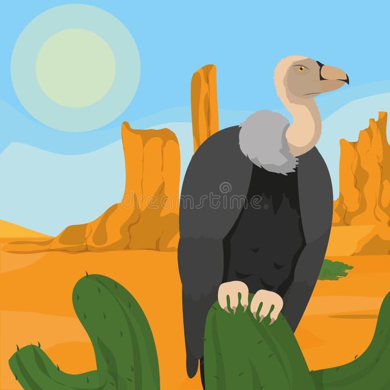 Хищник на пустыне иллюстрация вектора