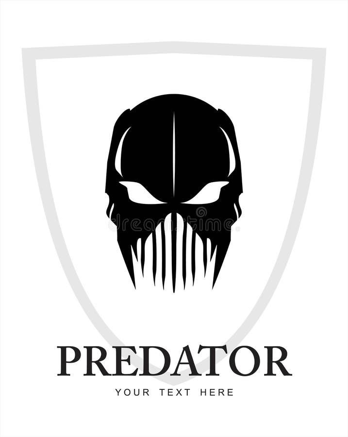 Хищник, призрак, ратник, ратник призрака призрака ратника иллюстрация вектора