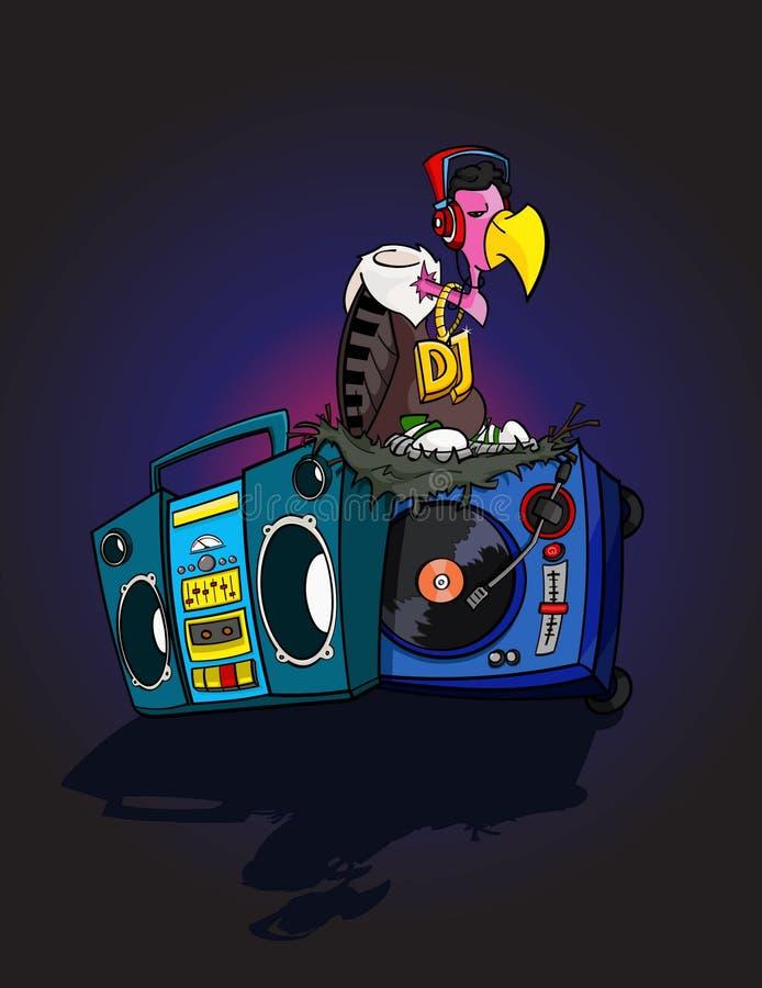 Хищник DJ иллюстрация вектора
