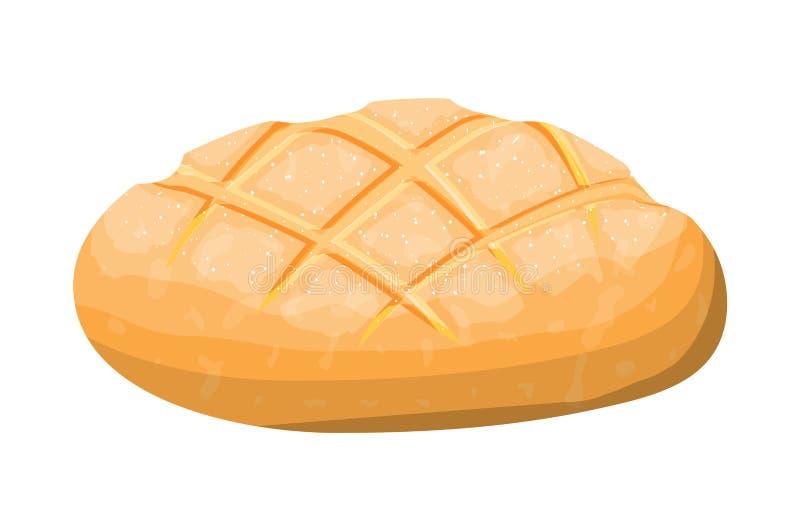 Хлебец хлеба тоста пшеницы иллюстрация штока