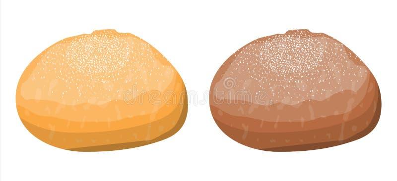 Хлебец хлеба тоста пшеницы и рож бесплатная иллюстрация