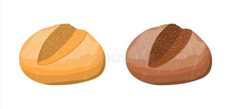 Хлебец хлеба тоста пшеницы и рож иллюстрация штока