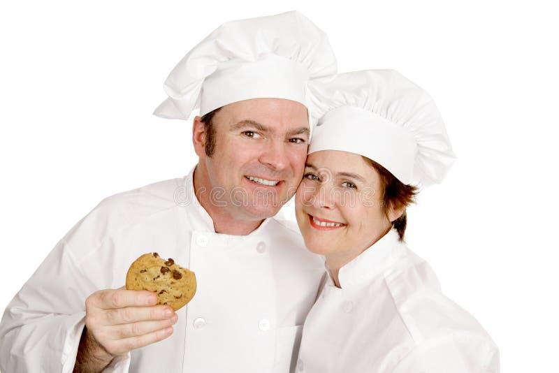 хлебопеки счастливые 2 стоковое изображение