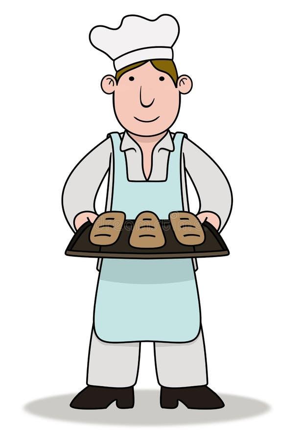 рисунок пекарь с хлебом открывается кнопки