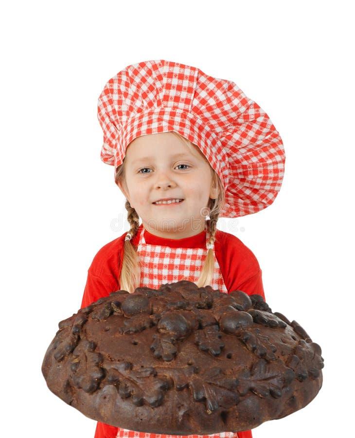 Хлебопек Littlle смешной стоковая фотография