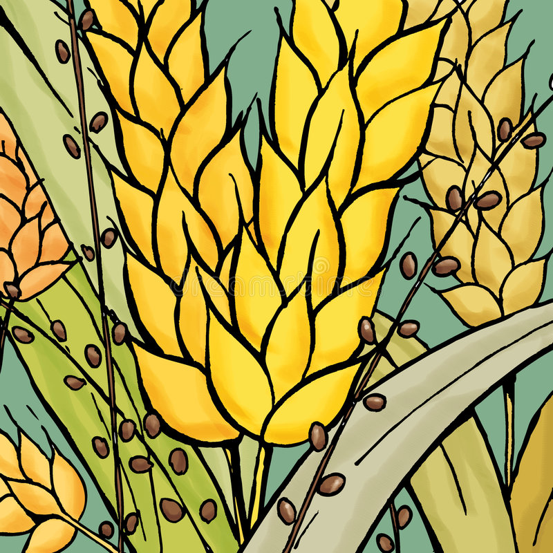 хлебоуборка иллюстрация штока
