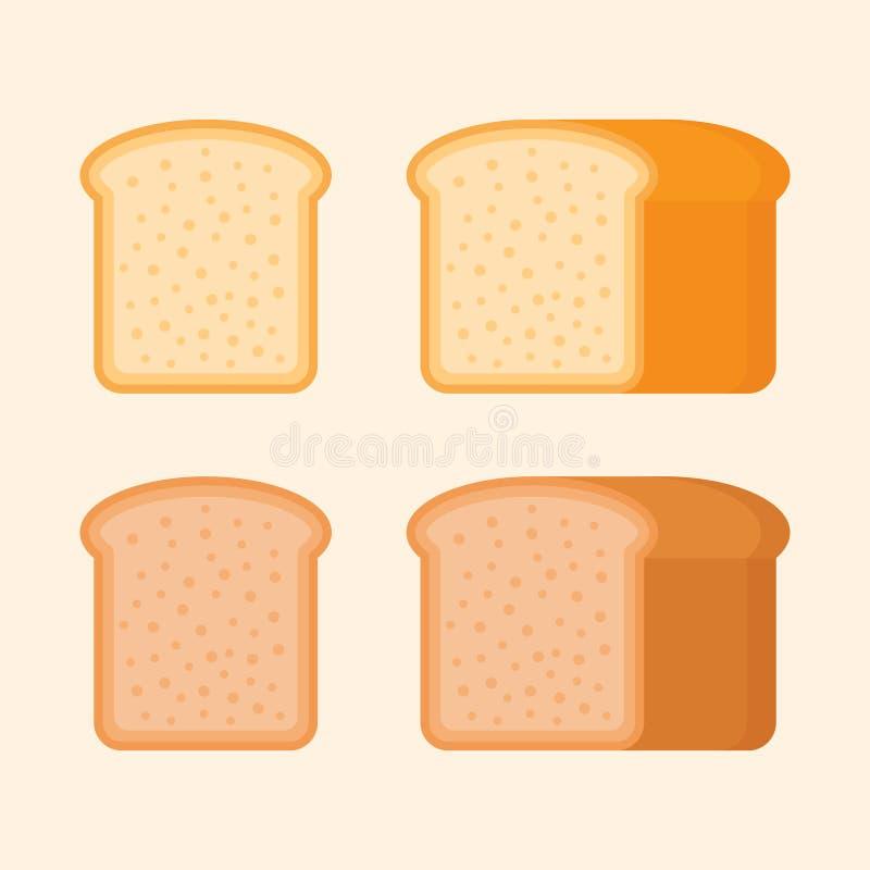 Хлеб здравицы Rye и пшеницы Плоская иллюстрация вектора стиля иллюстрация вектора
