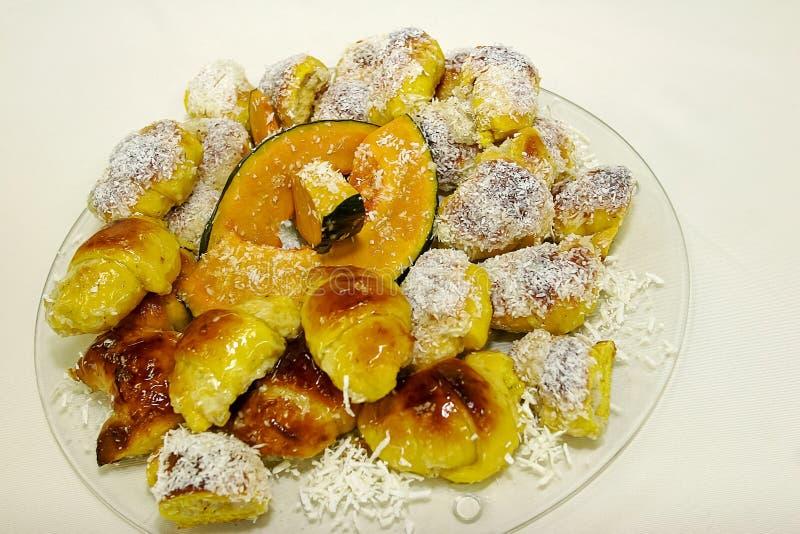 Хлеб тыквы и кокоса стоковая фотография