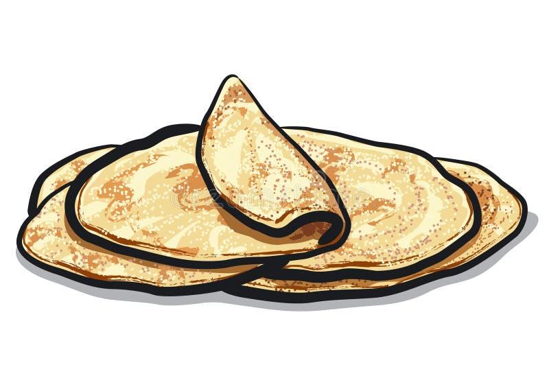 Хлеб Pita иллюстрация штока
