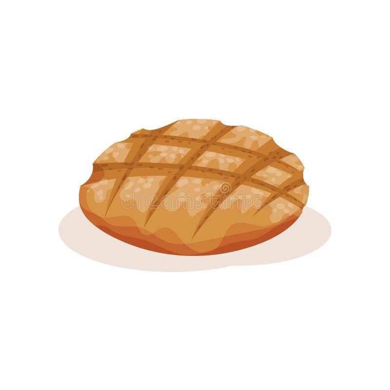 Хлеб Rye, иллюстрация вектора продукта печенья пекарни свежая на белой предпосылке иллюстрация вектора