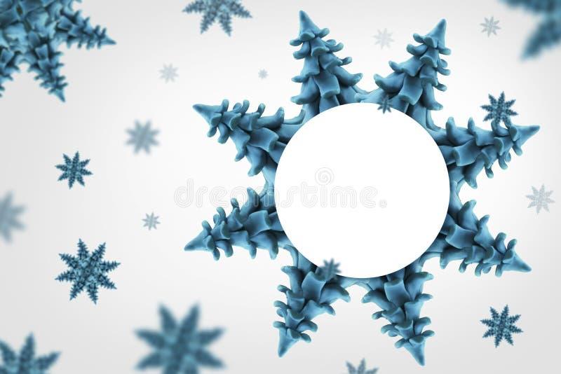 Хлопья снежка иллюстрация штока