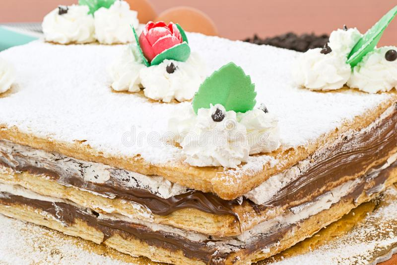 хлыст слойки печенья шоколада стоковая фотография rf