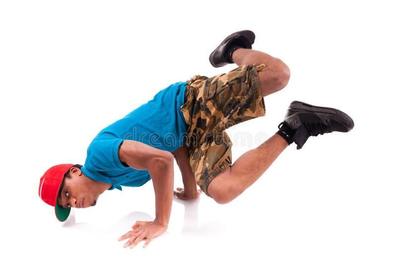 Хмель вальмы танцора афроамериканца    стоковые изображения rf