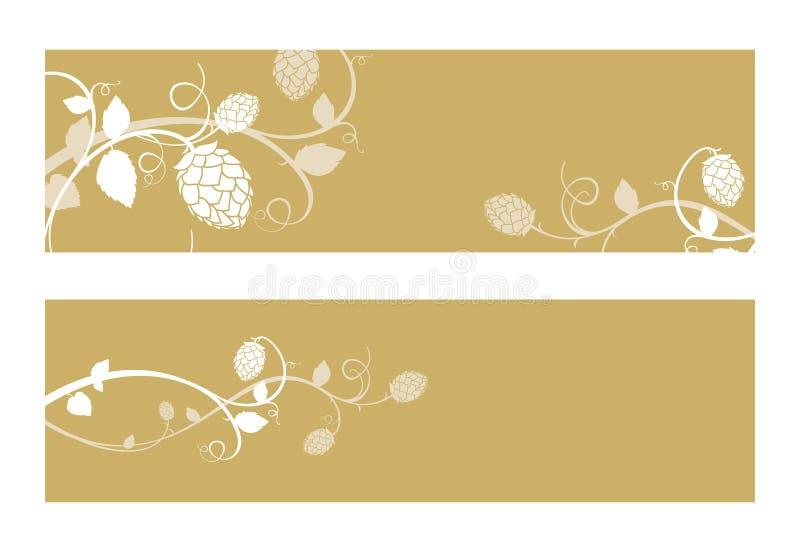 Хмель цветет состав. иллюстрация вектора