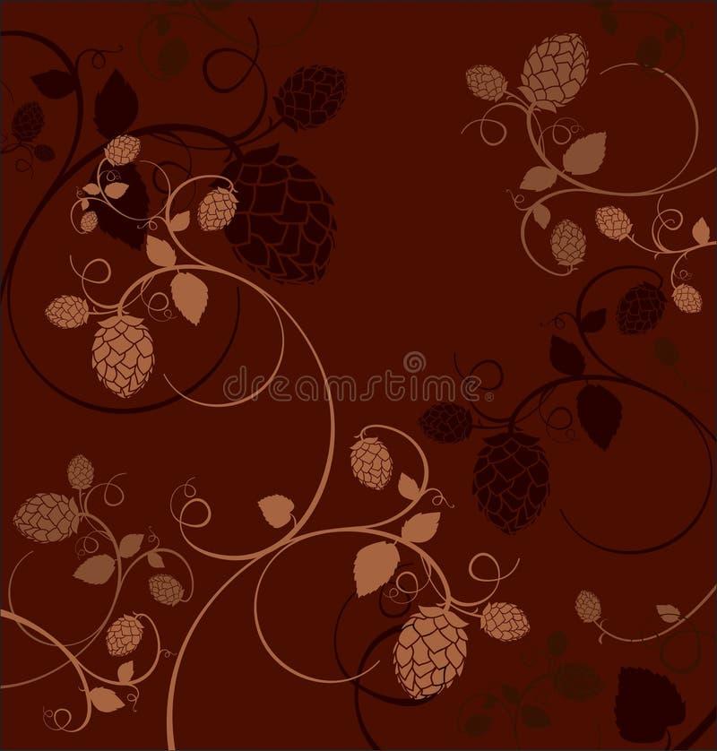 Хмель цветет состав. иллюстрация штока