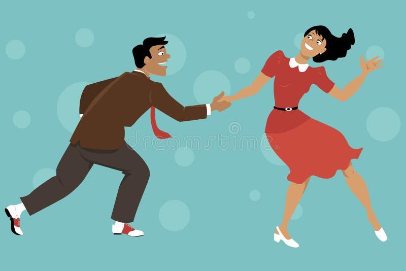 Хмель Lindy танцев иллюстрация штока