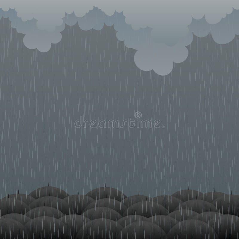 Хмурый дождь иллюстрация вектора