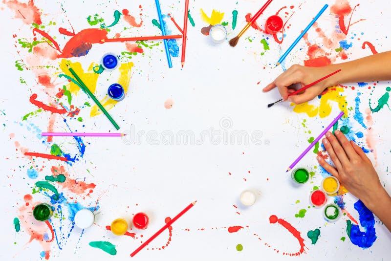 Хобби картины и чертежа стоковые изображения rf