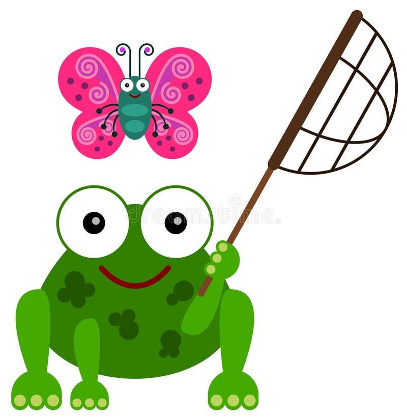 Хобби лягушки иллюстрация вектора