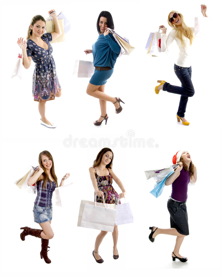 ходить по магазинам девушок стоковая фотография rf