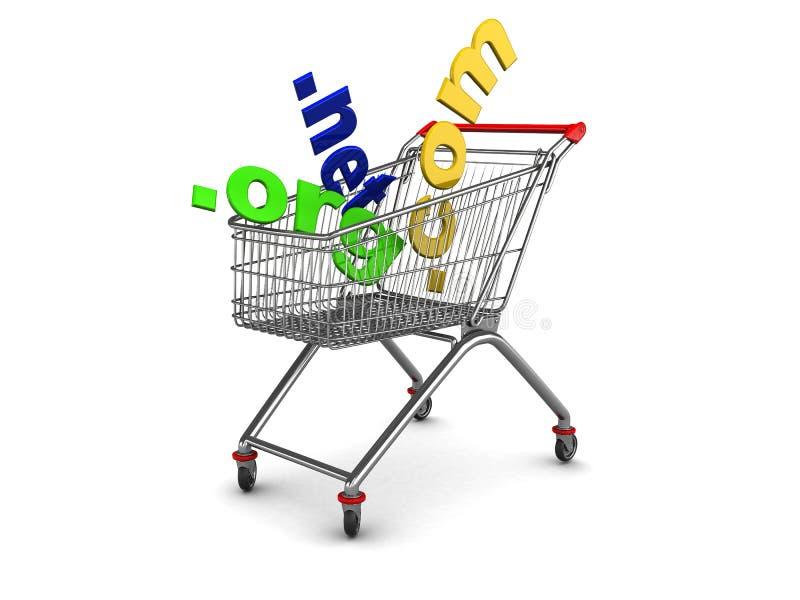 ходить по магазинам доменов иллюстрация вектора