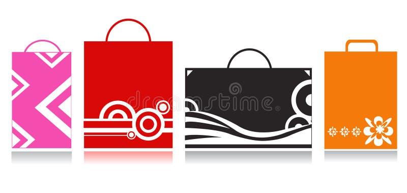 ходить по магазинам мешков бесплатная иллюстрация