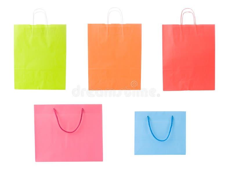 ходить по магазинам установленный мешками различный стоковое изображение