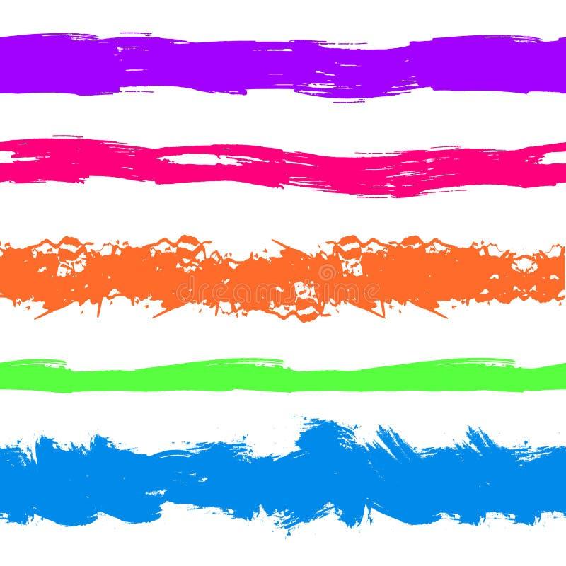 Ходы краски Grunge вектора, красочный комплект, яркие чернила цветов брызгают изолированный бесплатная иллюстрация