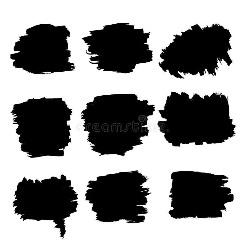 Ходы щетки черноты Grunge грубые иллюстрация штока