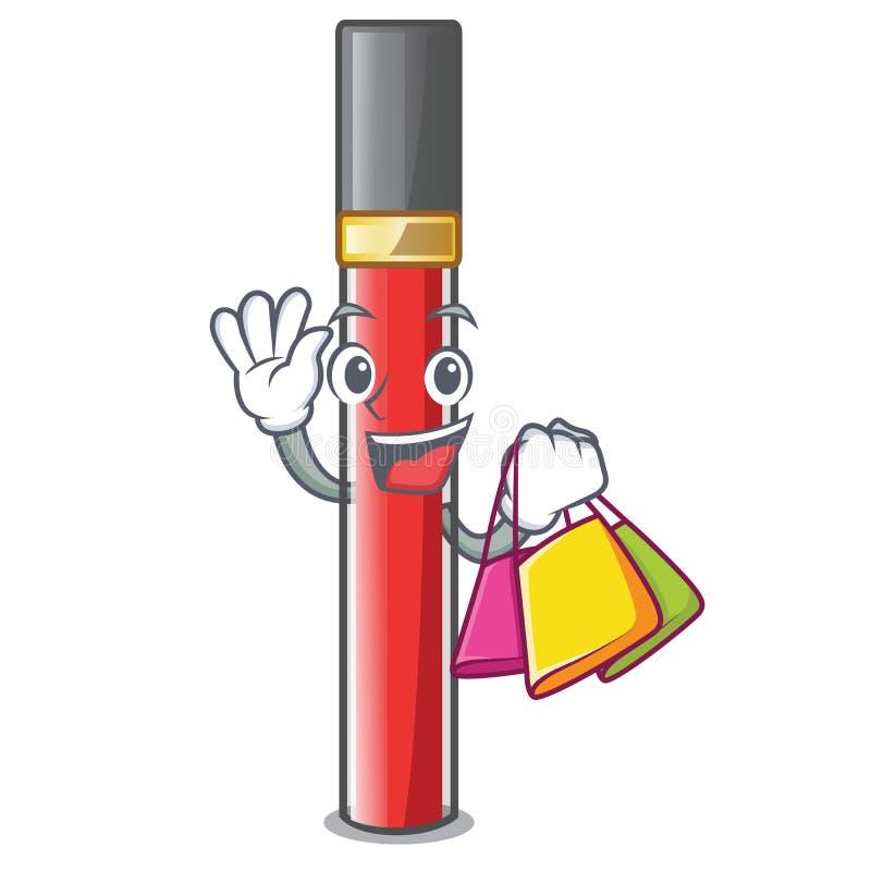 Ходя по магазинам лоск губы изолированный в талисмане бесплатная иллюстрация