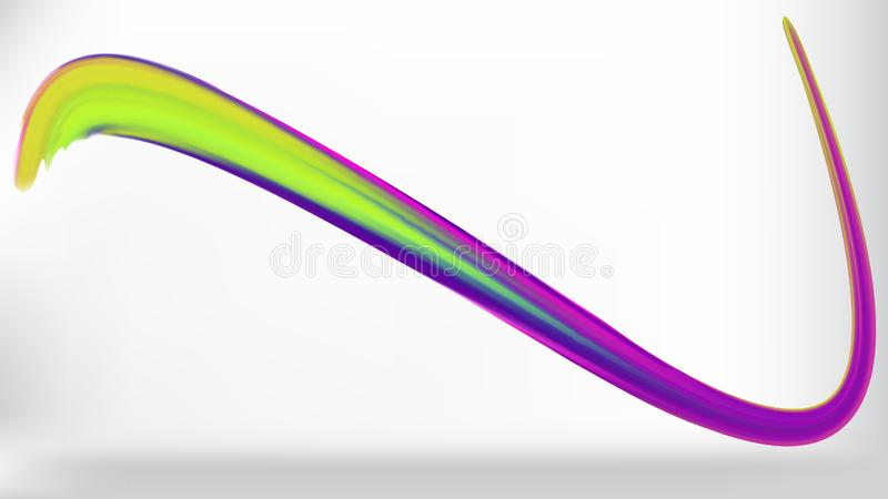 Ход вектора щетки цвета иллюстрация вектора