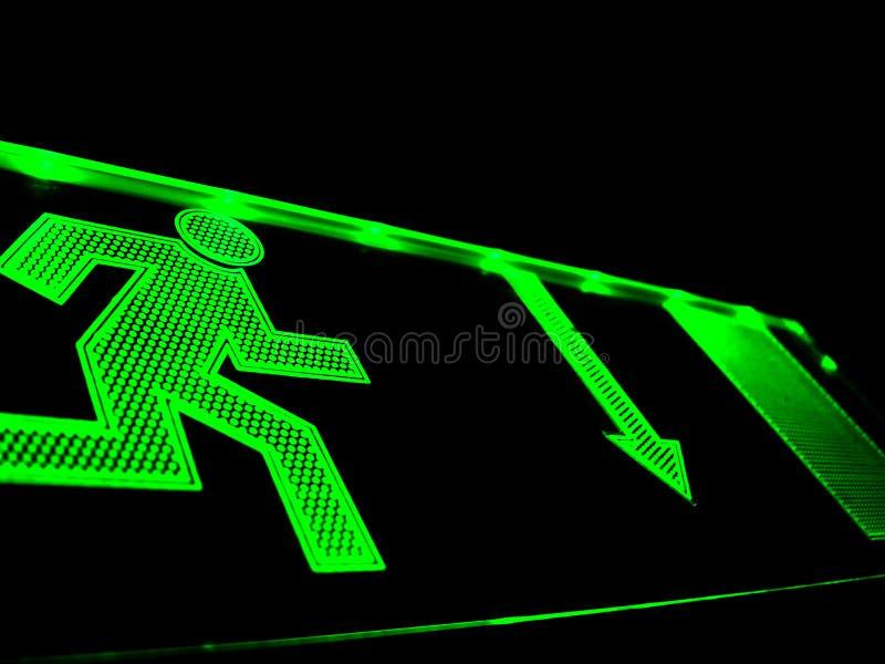 ход зеленого человека 3 стоковая фотография rf