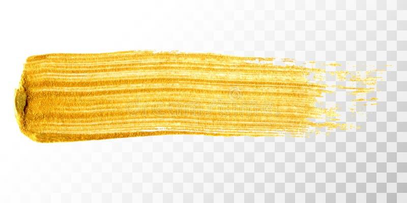 Ход кисти золота нарисованный рукой бесплатная иллюстрация