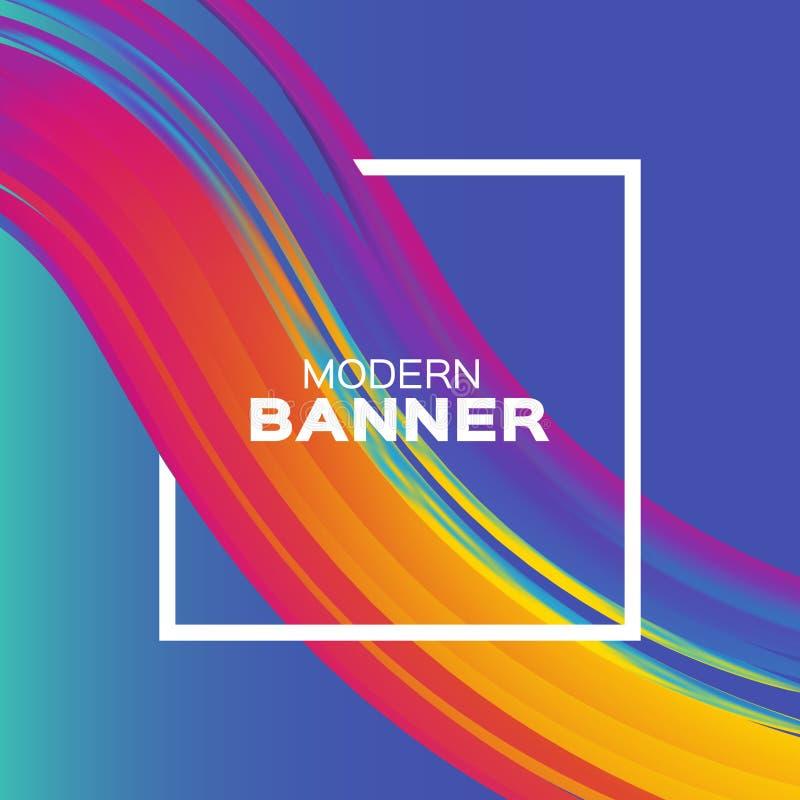 Ход кисти Luquid Красочная краска кривой Элемент для рогульки, представление, реклама, поздравительная открытка, плакат иллюстрация штока