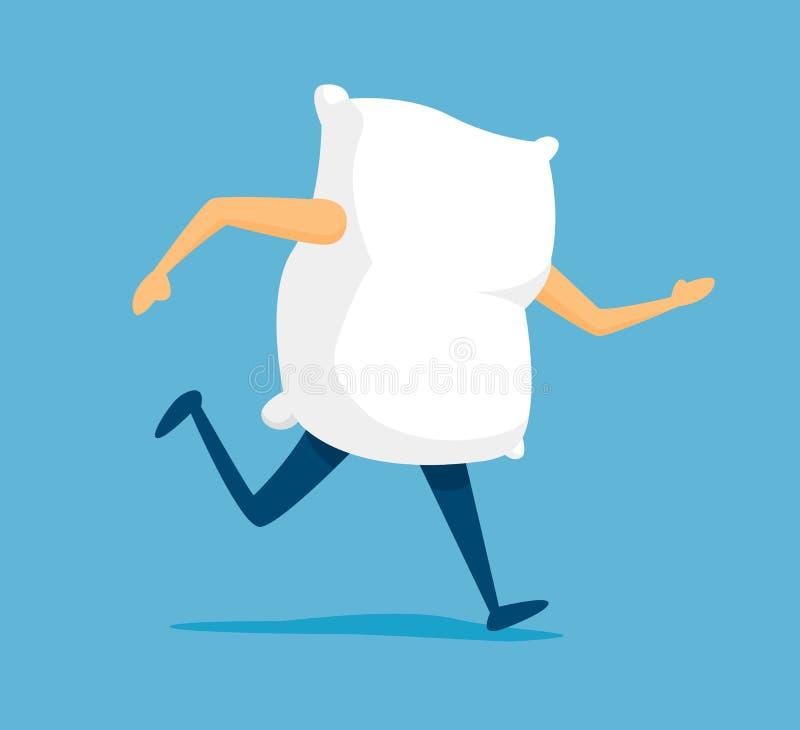 Ход подушки, который нужно спать стоковое изображение