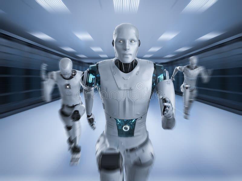 Ход робота со скоростью иллюстрация штока