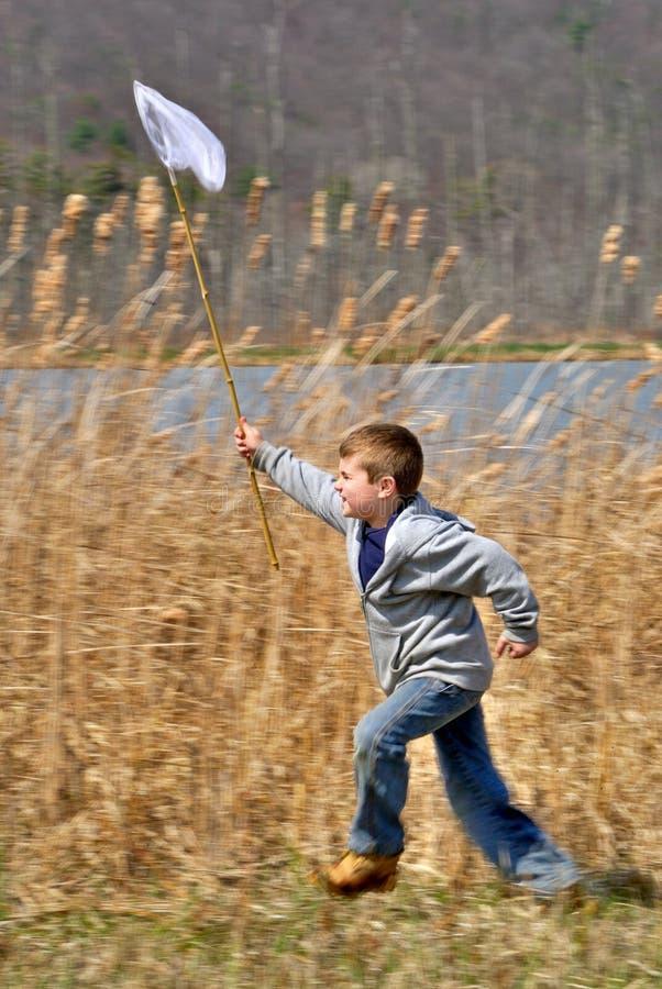 ход сети мальчика стоковая фотография rf